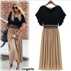 Vestido Longo Inteiro de Seda até EG produzido por lingerie no AIRU