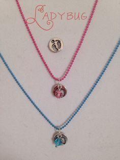 Boy or girl charm necklace by CharmingLadybug on Etsy