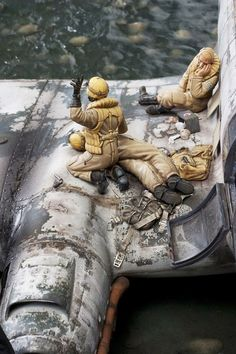 Norway 1943 Crash Site 1/32 Scale Model Diorama: