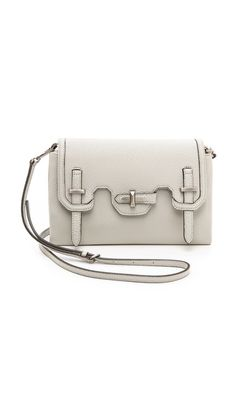 Rebecca Minkoff pebbled leather clutch.