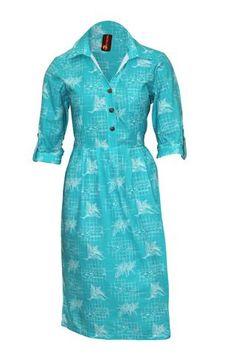 Koko Pacific Ladies Elei Shirt Dress