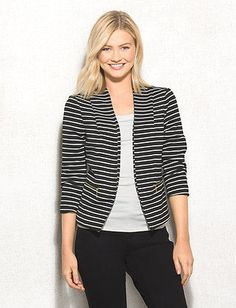 When you're looking for a versatile piece to add to your wardrobe, choose this chic blazer.  You can dress it up with a pencil skirt, or dress it down with jeans. However you wear it, you'll look polished all around, we promise! Imported.