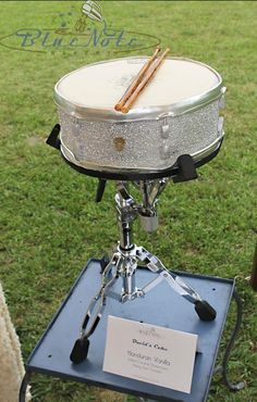 Sculpted Drum Groom's Cake   Blue Note Bakery - Austin, Texas
