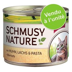 Animalerie  Schmusy Menu Nature 1 x 190 g pour chat  chaton: veau volaille pâtes
