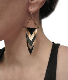 Hey, I found this really awesome Etsy listing at https://www.etsy.com/listing/100881696/copper-fringe-earrings-multi-v-design