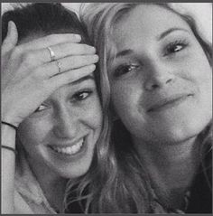 Alycia Debnam Carey and Eliza Taylor
