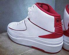 c8f48f6ac6c Click to order - Air Jordan 2 White Varsity Red on Amazon size 9 M