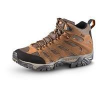 Merrell Men's Waterproof Moab Mid Hiking Shoes, Earth