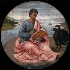 St. John the Evangelist on the Island of Patmos - Domenico Ghirlandaio, 1480-1485