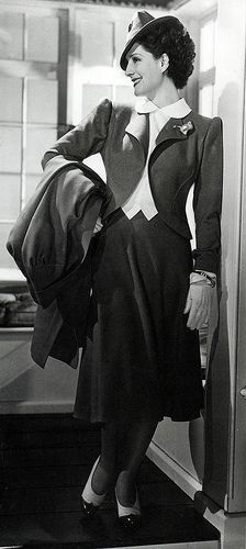 Norma Shearer looking so very chic in an Adrian suit.