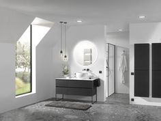 Inspirerende trends: warme houtsoorten zoals zwarte eik, dampwerende spiegels. Ronde vormen en asymmetrische opstellingen. Ook frames doen hun intrede, in combinatie met meubelen en inloopdouches. Zwart kraanwerk en accessoires zorgen voor de finishing touch! Exclusief verdeeld door X2O. #Balmani #X2O #frames #zwart kraanwerk #zwarte eik Bathroom Lighting, Oversized Mirror, Bathtub, Design, Furniture, Admiration, Home Decor, Tips, Blog