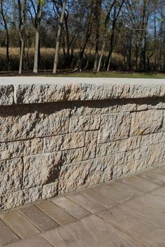 NewLine Hardscapes' Sonoma™ Wall, shown in Fieldstone, is freestanding and is the same easy-to-install unit system as our popular Napa™ Wall system. However, Sonoma™ Wall is untumbled, giving it a profile with clean, straight lines. It is perfect for homeowners who desire a less weathered, more structured appearance. Free Standing Wall, Straight Lines, Sit Back, Be Perfect, Environment, The Unit, Profile, Popular, Easy