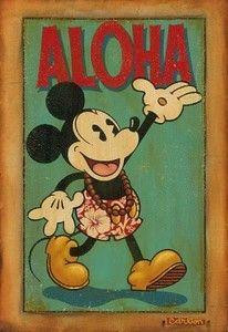 Mickey Mouse Aloha Mickey Mouse Hawaiian Disney Fine Art by Trevor Carlton