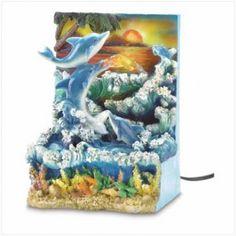 Dolphin Sunset Water Fountain    $29.95  Lexi's Kreationz, LLC