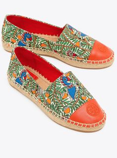 c53f9154664ad2 Tory Burch Color-block Printed Espadrille