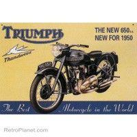Triumph Thunderbird Motorcycle Tin Sign