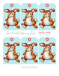 Free Printable Bunny Tags from Sweetly Scrapped