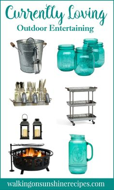 Currently Loving all these Outdoor Entertaining Essentials from Walking on Sunshine.