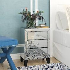 Alessia 2 Drawer Nightstand In 2021 Drawer Nightstand 3 Drawer Nightstand Nightstand