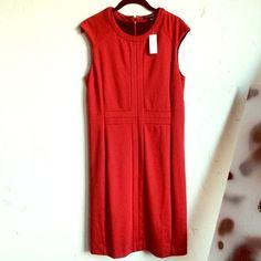 NWT Banana Republic Dress Banana Republic Sleeveless Red Dress. Lined. 71% polyester, 25% rayon, 4% spandex. Banana Republic Dresses