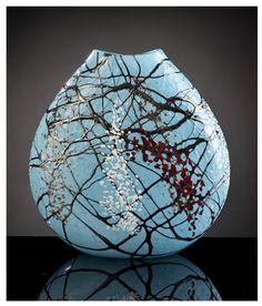 Turquoise Flat Vase