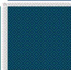 Weaving Draft teal double diamond twill, Something I drafted using Pixeloom., Upper Great Laker Region, 2004-2015, #54021