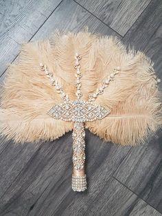 Wedding Fans, Diy Wedding, Feather Bouquet, Bling Bouquet, Wedding Planner, Destination Wedding, Antique Fans, New Years Decorations, Wedding Decorations