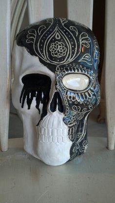 Ceramic sugar skull mask