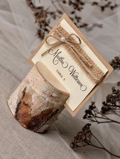 Custom Listing 20 Rustic Place Card Holder With Birch Wedding