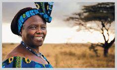 Wangari Muta Maathai fue una activista política, y ecologista keniana. En 2004 recibió el Premio Nobel de la Paz por «sus contribuciones al desarrollo sostenible, a la democracia y a la paz». Fue la primera mujer africana que recibe este galardón. Wikipedia      Fecha de nacimiento: 1 de abril de 1940, Tetu, Kenia    Fecha de la muerte: 25 de septiembre de 2011, Nairobi, Kenia    Cónyuge: Mwangi Mathai (m. 1969–1979)      Premios: Premio Nobel de la Paz, Más