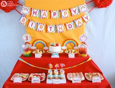Rainbow Birthday Party Package Personalized FULL Collection Set  - PRINTABLE DIY - PS808CA1x. $35.00, via Etsy.