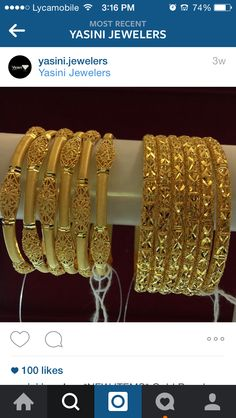 😍 Gold Ring Designs, Gold Bangles Design, Jewelry Design Earrings, Gold Earrings Designs, Gold Jewelry Simple, Kamiz, Jewels, Beautiful, Dresses
