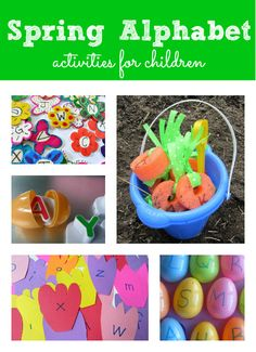 Spring Alphabet activities for kids. Learn letters and celebrate spring!