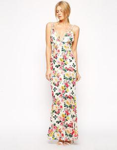 Rare | Rare Floral Maxi Dress with Multi Strap Detail at ASOS