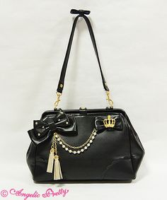 Angelic Pretty's Elegant Tassel Bag in Black