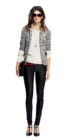 Totally on point   Banana Republic Sloan Skinny Pants and Studded Heels