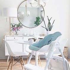 For all our modern mommy's, this is where function meets fashion. Cocoon High Chair designed for modern homes.