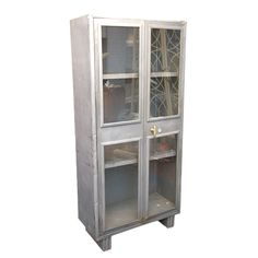 1930's Industrial Display Cabinet | From a unique collection of antique and modern cabinets at http://www.1stdibs.com/furniture/storage-case-pieces/cabinets/