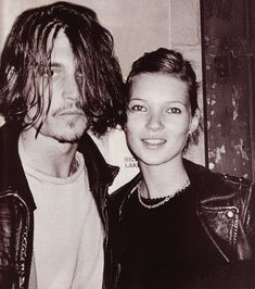 Johnny and kate  #model #Kate #Moss #Johnny #Depp