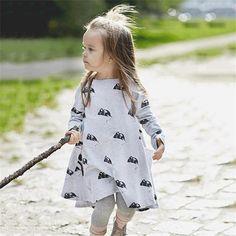 3c33b11f8711 New Girls Clothing Dresses Cartoon Mouse Children Princess Dresses Kids  Clothes