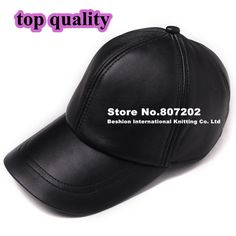 9b98efbc5b4 Free Delivery high quality Sheepskin hat genuine winter leather hat  baseball cap adjustable for men black
