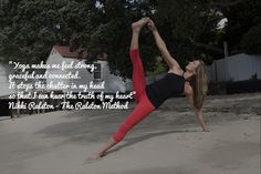 Vasisthasana on the beach wisdom. www.theralstonmethod.com