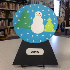 snow globe, snowman, painting with q-tips, toddler crafts