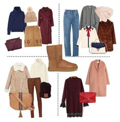 """Uggs"" by kuznetsovavv on Polyvore featuring мода, Uniqlo, Acne Studios, UGG, Alberto Biani, Dorothy Perkins, rag & bone, Chloé, Gucci и Aspinal of London"