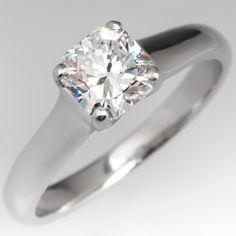 Tiffany Lucida Diamond Engagement Ring Platinum .80CT G/VVS2