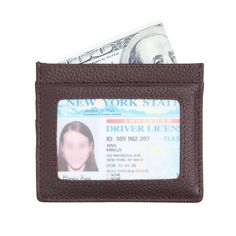 IDEAWIN RFID Blocking Card Wallet with ID window Genuine Leather Card Holder *** Check this awesome product by going to the link at the image.