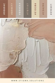 STIGMA Solutions: Designer - Kelly Dawn Noel Suan Neutral color palette with a variety of nude and natural tones. (mauve, blush, charcoal, gray, ivory, rose, pink, eggshell, muted)