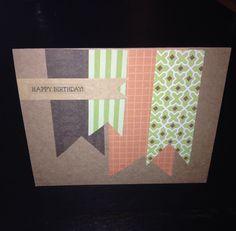 Birthday Card #diy #card #crafts #brown #orange #green