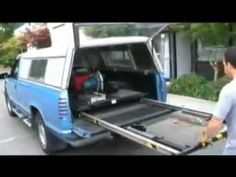 TramBed Truck Bed Extension - Easily Moves Cargo In and Out of Work Vehicles Truck Bed Drawers, Truck Bed Storage, Transit Camper, Ford Transit, Truck Bed Slide, Accessoires 4x4, Bed Extension, Truck Bed Accessories, Bed With Slide