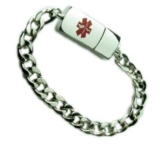 Usb Silver Or Gold Medic Id Bracelet Electronic Emergency Medical Records